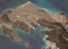 پایگاه هوایی مرموزی که در جزیره آتشفشانی یمن ساخته میشود