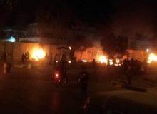 کیوسکهای اطراف کنسولگری ایران در کربلا به آتش کشیده شد