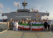 پیام ناوگروه نیروی دریایی ارتش از اقیانوس اطلس