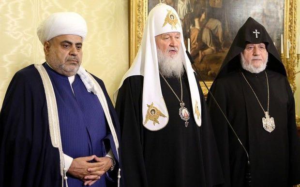 تاکید رهبران مذهبی مسکو، ایروان و باکو بر رفع تنش ها در قفقاز